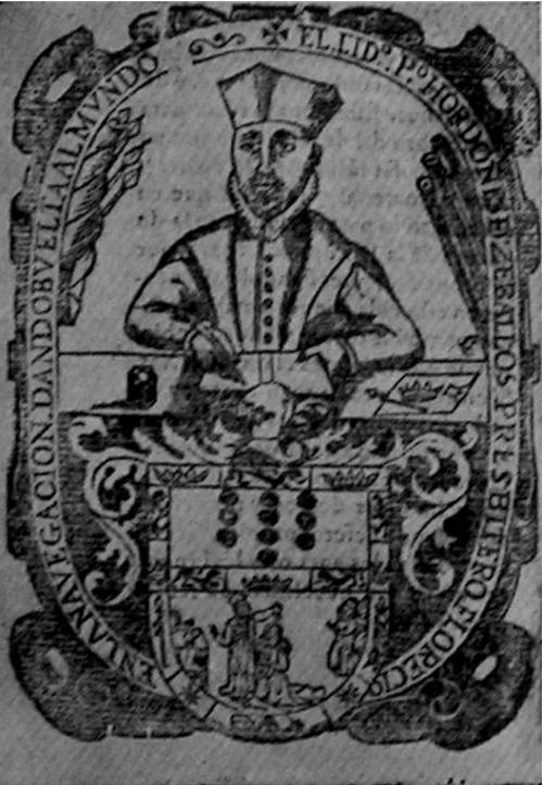 Retrato de Pedro Ordoñez que aparece en sus obras