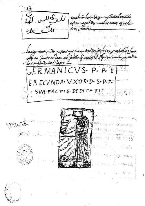 Inscripciones y esculturas