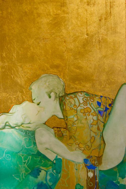 Natividad Jiménez. Abrazo de las hojas de ginkgo azul